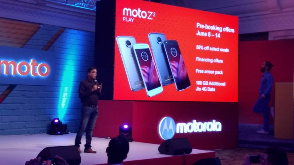 Motorola Moto Z2 Play pre-booking offers