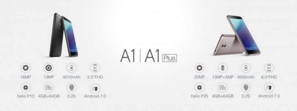 Gionee A1 vs Gionee A1 Plus Comparison