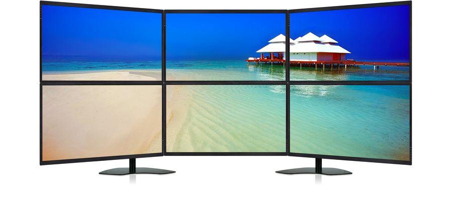 UltraView Command Center 32 - 6-Monitor 4K Array Digital Tigers - multi screen display