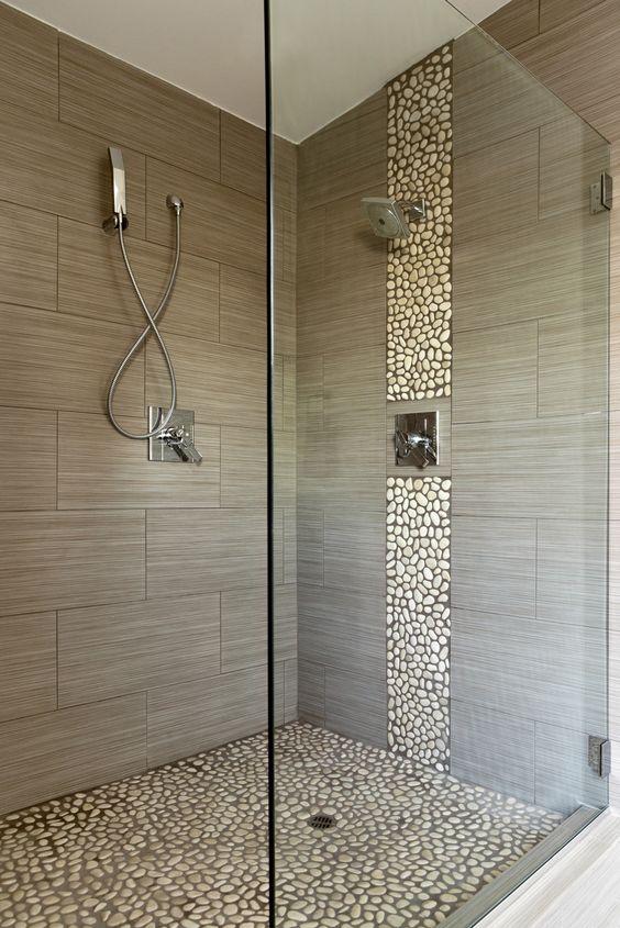41 Cool And Eye-Catchy Bathroom Shower Tile Ideas - DigsDigs - bathroom tile ideas