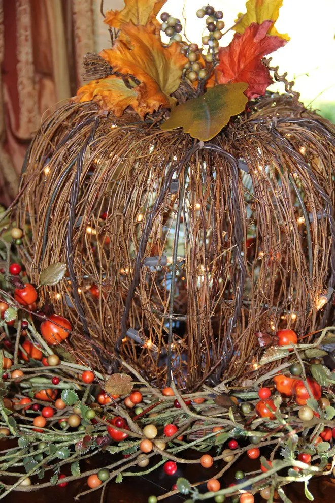 Fall String Lights Wallpaper Weddings 65 Awesome Pumpkin Centerpieces For Fall And Halloween