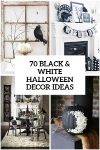 70 Ideas For Elegant Black And White Halloween Decor ...
