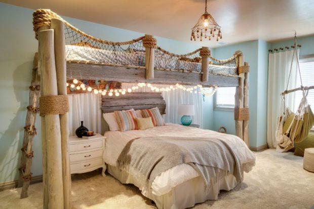 beautiful beach and sea themed theme bedroom