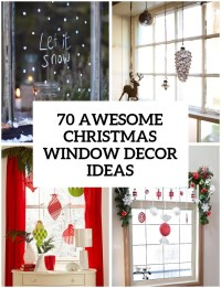 70 Awesome Christmas Window Dcor Ideas - DigsDigs