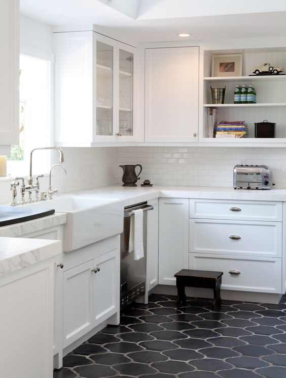 30 Practical And Cool-Looking Kitchen Flooring Ideas - DigsDigs - kitchen tile flooring ideas