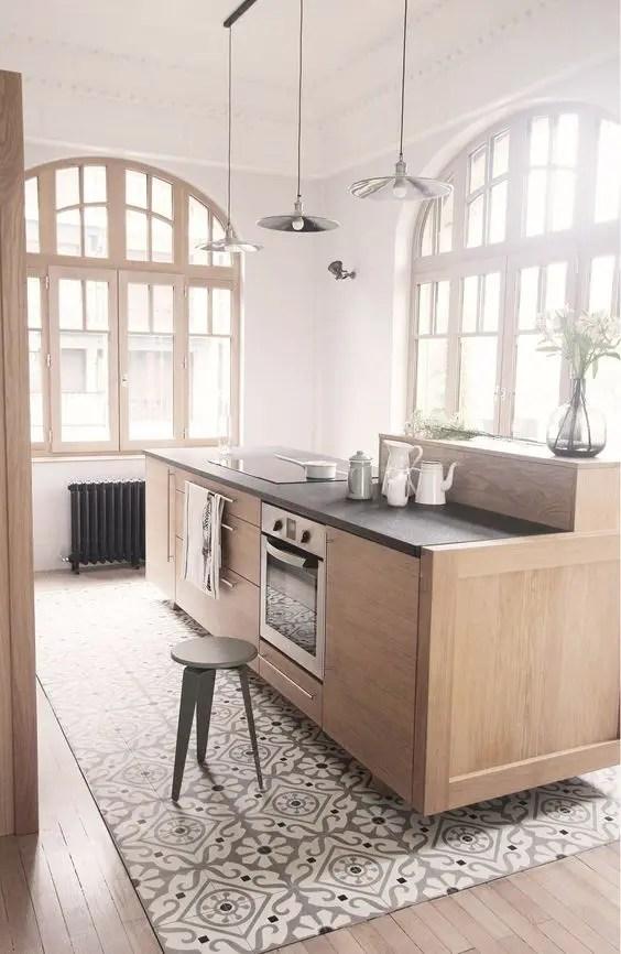 30 Practical And Cool-Looking Kitchen Flooring Ideas - DigsDigs - kitchen floor tiles ideas