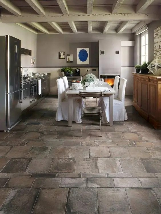 25 Stone Flooring Ideas With Pros And Cons - DigsDigs - kitchen tile flooring ideas