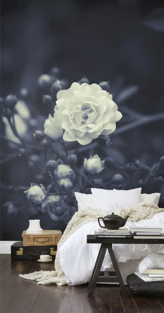 3d Flower Mural Wallpaper 26 Photo Accent Walls That Will Blow Your Mind Digsdigs