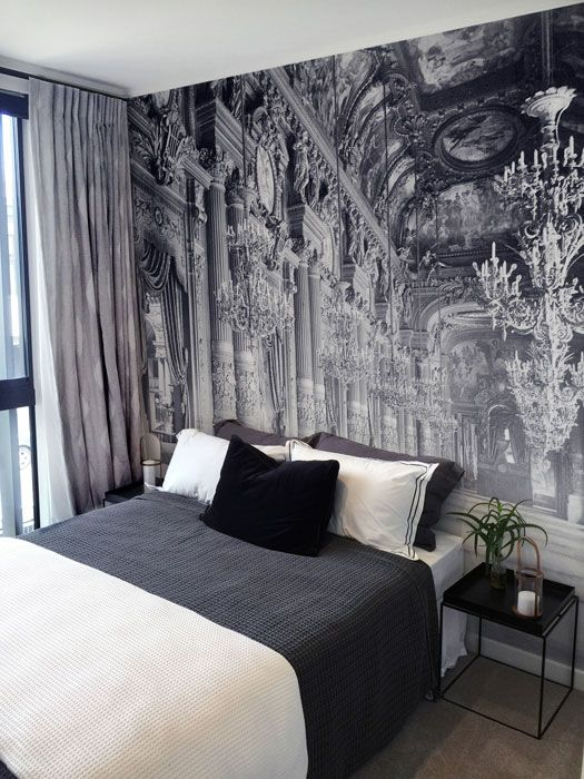 Black And White Wallpaper Pattern 26 Photo Accent Walls That Will Blow Your Mind Digsdigs