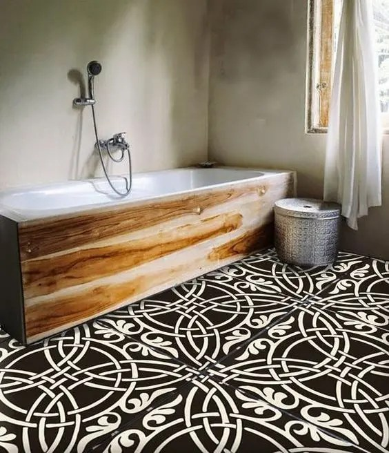 Black And White Wallpaper Living Room 30 Tile Flooring Ideas With Pros And Cons Digsdigs