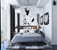 Modern Urban Bedroom Decor In Grey And White - DigsDigs