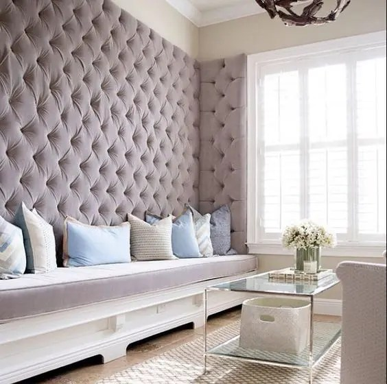 3d Wallpaper For Living Room Wall Dare To Be Different 27 Fabric Accent Walls Digsdigs