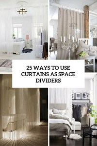 25 Ways To Use Curtains As Space Dividers