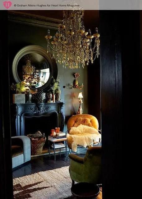 Purple And Black Bedroom Wallpaper 30 Dark Moody Living Room D 233 Cor Ideas Digsdigs