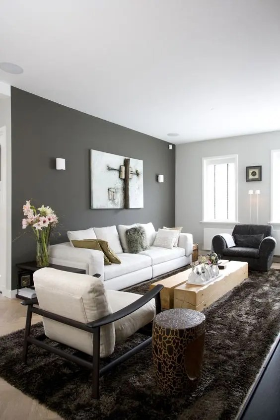 Color Passion 30 Bold Painted Accent Walls - DigsDigs - accent wall in living room