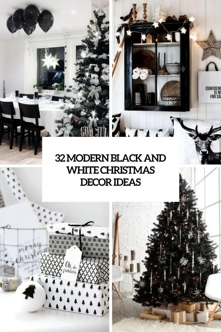32 Modern Black And White Christmas Dcor Ideas