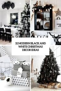32 Modern Black And White Christmas Dcor Ideas - DigsDigs