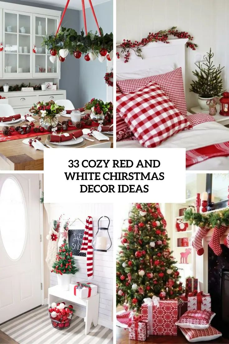 33 cozy red and white christmas d cor ideas