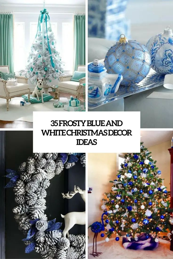 51 exquisite totally white vintage christmas ideas digsdigs 35 frosty blue and white christmas dcor download