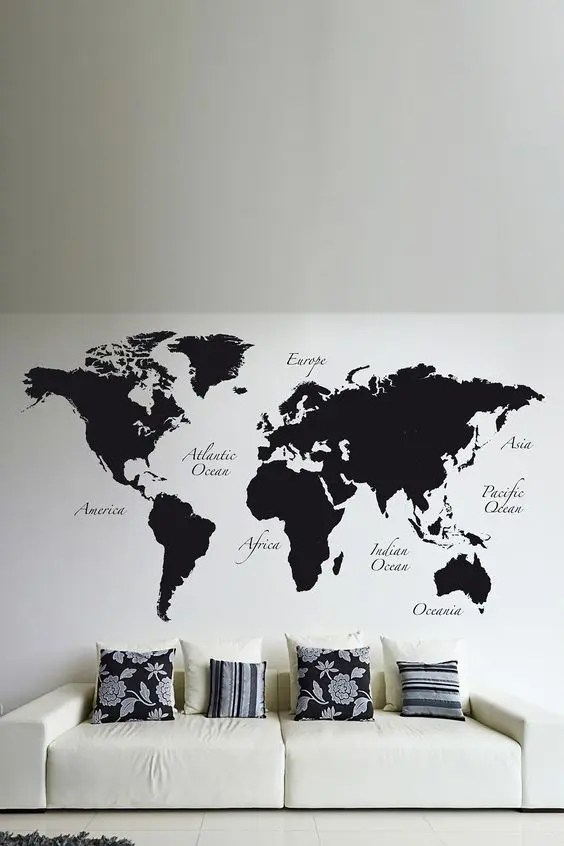 Dream About Wallpaper Falling Off 31 Cool Travel Themed Home D 233 Cor Ideas To Rock Digsdigs