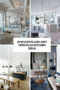 30 Spacious And Airy Open Plan Kitchen Ideas - DigsDigs