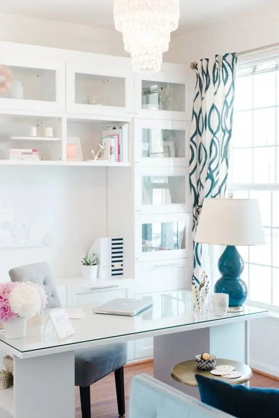 Cute Girly Wallpaper For Bedroom 30 Delightful Feminine Home Office Furniture Ideas Digsdigs