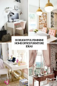 30 Delightful Feminine Home Office Furniture Ideas - DigsDigs