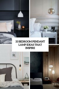 33 Bedroom Pendant Lamp Ideas That Inspire - DigsDigs