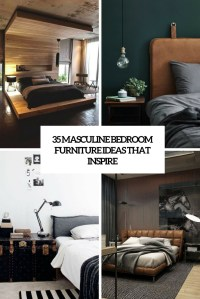 35 Masculine Bedroom Furniture Ideas That Inspire - DigsDigs