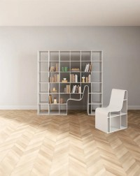Bookchair: A Bookshelf And A Reader's Chair In One - DigsDigs