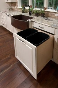 29 Sneaky Ways To Hide A Trash Can In Your Kitchen - DigsDigs