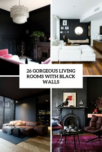 26 Gorgeous Living Rooms With Black Walls - DigsDigs