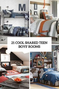 21 Cool Shared Teen Boy Rooms Dcor Ideas - DigsDigs