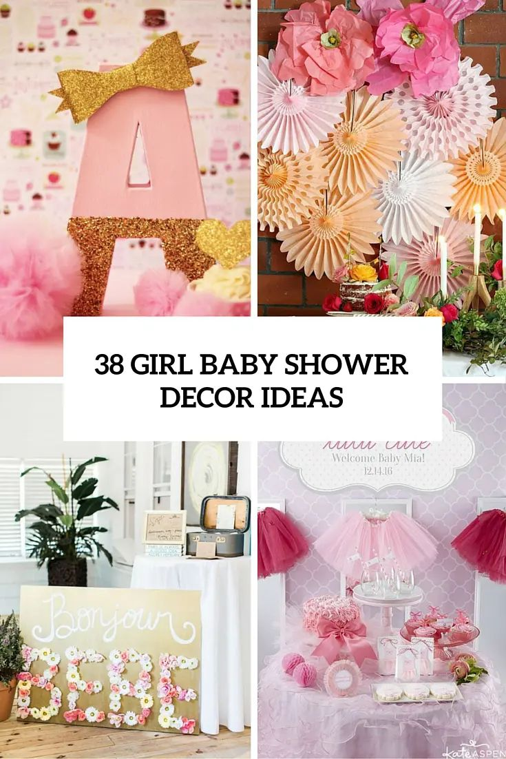 38 girl baby shower decor ideas cover