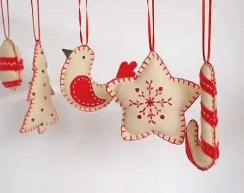 56 Original Felt Ornaments For Your Christmas Tree - DigsDigs - felt christmas decorations
