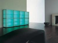 Modern Storage Cabinets with Cool Illumination   Interior ...