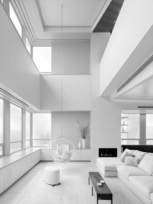 All Shades Of White 30 Beautiful Living Room Designs - DigsDigs - all white living room