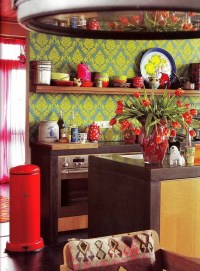 57 Bright And Colorful Kitchen Design Ideas - DigsDigs