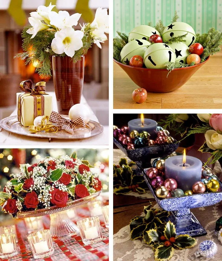 50 Great \ Easy Christmas Centerpiece Ideas - DigsDigs - christmas floral decorations
