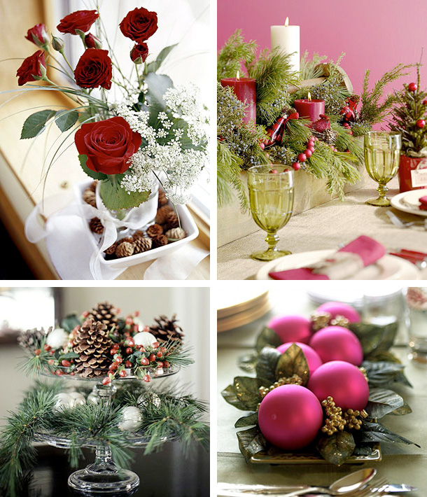 inexpensive christmas table centerpiece ideas - Rainforest Islands - christmas floral decorations