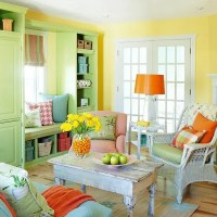 33 Colorful And Airy Spring Living Room Designs
