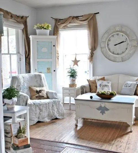 45 Comfy Farmhouse Living Room Designs To Steal - DigsDigs - cool living room furniture