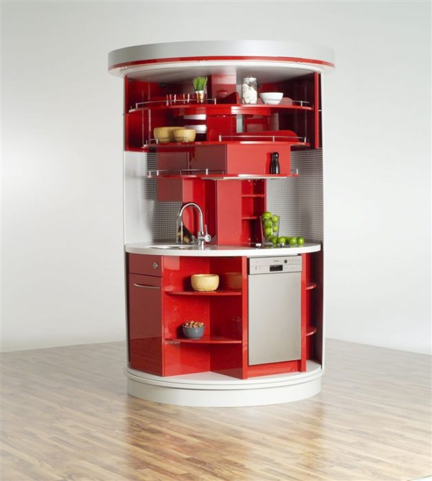 10 Compact Kitchen Designs for Very Small Spaces - DigsDigs - kitchen designs for small spaces