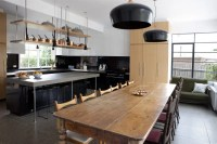 Cool Big Kitchen In Minimalist And Rustic Styles