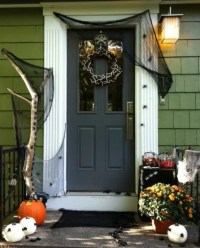 40 Cool Halloween Front Door Decor Ideas - Interior ...