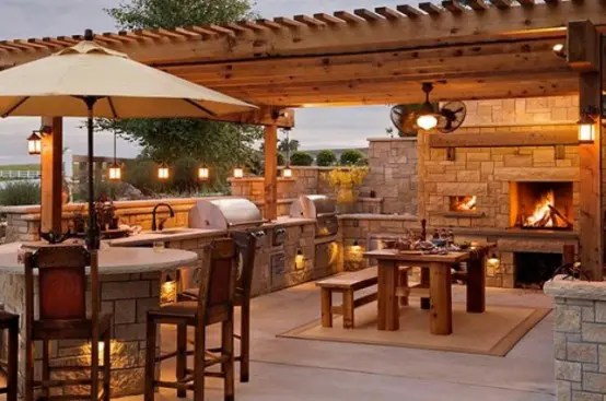 95 Cool Outdoor Kitchen Designs - DigsDigs - outside kitchen designs