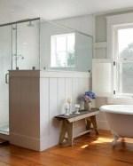 Farmhouse Bathroom With Shower