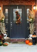 Front Door Fall Decorating