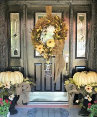 67 Cute And Inviting Fall Front Door Dcor Ideas