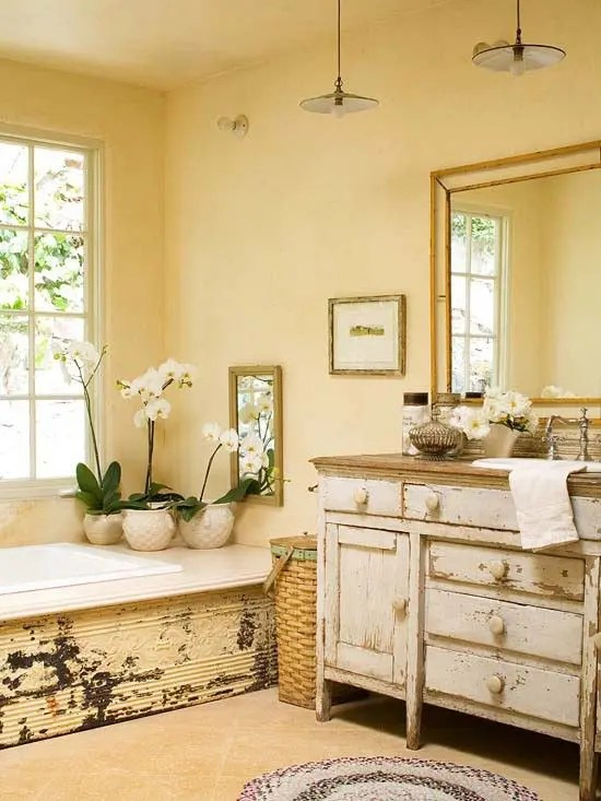 28 Lovely And Inspiring Shabby Chic Bathroom Décor Ideas - DigsDigs - shabby chic bathroom ideas